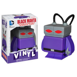 Black Manta DC Comics 3 Interchangeable Magnetic Vinyl Figure