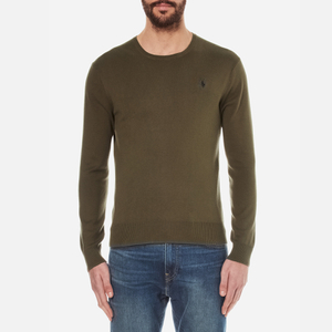 Polo Ralph Lauren Men's Crew Neck Pima Cotton Knitted Jumper - New Olive