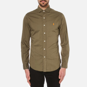 Polo Ralph Lauren Men's Long Sleeve Slim Shirt - Olive