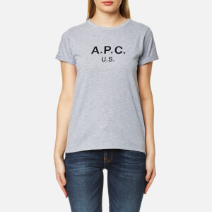 A.P.C. Women's US F T-Shirt - China Light Grey