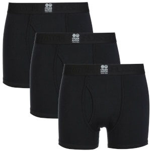 Crosshatch Men's 3 Pack Triplet Boxers - Black