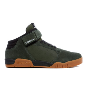 Supra Men's Ellington Strap Suede Trainers - Dark Olive