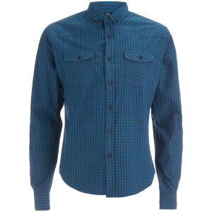 Smith & Jones Men's Porticus Check Shirt - Blue Sapphire