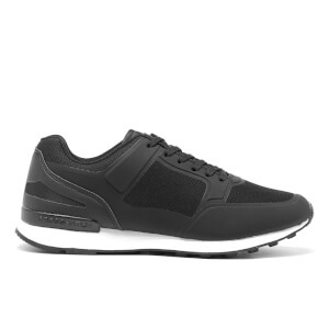 Crosshatch Herren Blanche Trainers - Black