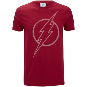 DC Comics Mens The Flash Line Logo T-Shirt - Cardinal Red