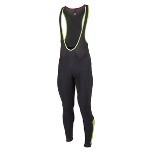 Nalini Dbl XWarm Bib Tights - Black/Fluro Yellow
