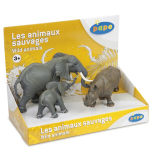 Papo Wild Animal Kingdom: Display Box Wild Animals 3 (3 Figurines)