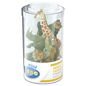 Papo Mini Plus Wild Set 2 Tube (6 Pieces)