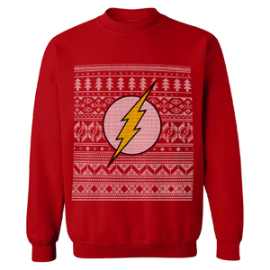 DC Comics Mannen The Flash Kerstmis Fairisle Trui - Rood