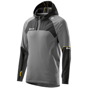 Skins Plus Men's Long Sleeve Hoody - Black/Pewter