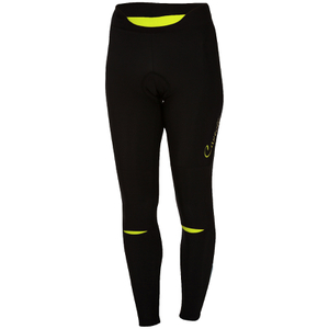 Castelli Women's Chic Tights - Black/Yellow Fluro