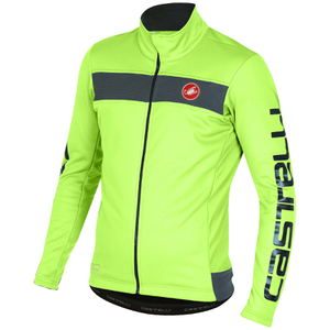 Castelli Raddopia Jacket - Yellow Fluro/Grey