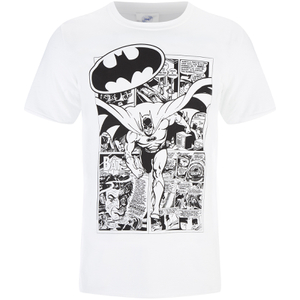 T-Shirt DC Comics Batman Comic Strip - Blanc