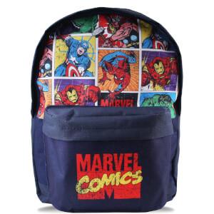 Mochila Marvel Comics Personajes - Azul marino