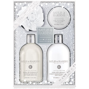 Baylis & Harding Jojoba, Silk & Almond Oil 4 Piece Bath Gift Set