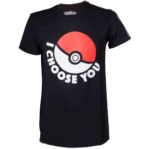 Pokemon I Choose You Pokeball T-Shirt - Black