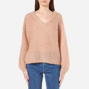 Gestuz Women's Cadence V-Neck Jumper - Maple Sugar