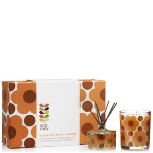 Orla Kiely Sunset Flora Orange Rind Gift Set