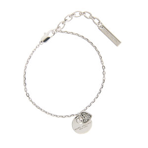 Marc Jacobs Women's MJ Coin Bracelet - Crystal/Silver