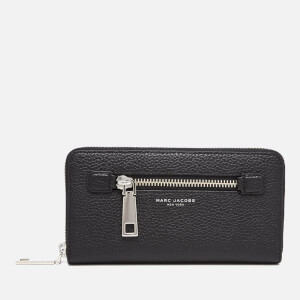 Marc Jacobs Women's Gotham Large Zip Around Leather Purse - Black