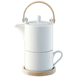 LSA Circle Tea for One & Ash Handle with Saucers - 0.35L