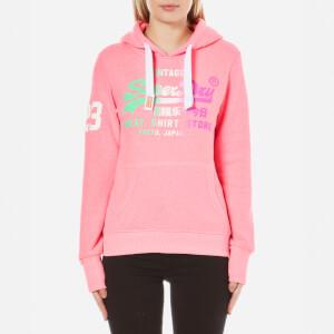 Superdry Women's Store Side Fade Hoody - Snowy Ultra Pink