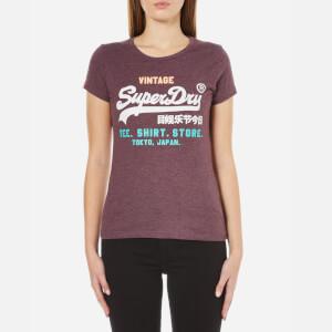 Superdry Women's Shirt Shop Try T-Shirt - Royal Blood Marl