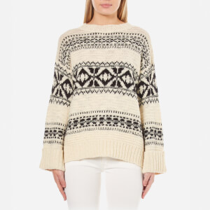 Polo Ralph Lauren Women's Pattern Jumper - Black/Cream