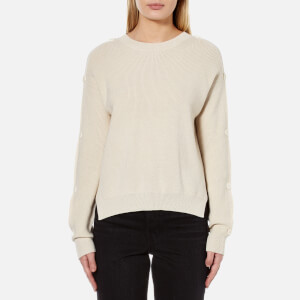 Helmut Lang Women's Button Sweater - Alabaster