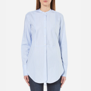 Helmut Lang Women's Oxford Tuxedo Shirt - Medium Blue