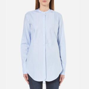 Helmut Lang Women's Oxford Tuxedo Shirt - Medium Blue