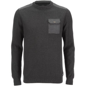 Threadbare Men's Karlson Crew Neck Jumper - Charcoal Marl