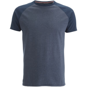 Threadbare Men's Abbot Raglan Sleeve T-Shirt - Navy Marl