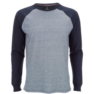 Threadbare Men's Coleman Raglan Long Sleeve Top - Navy
