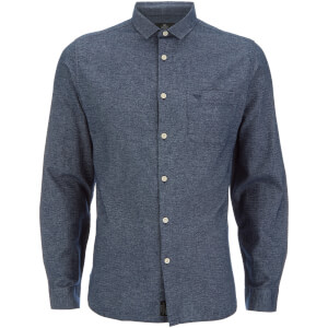 Threadbare Men's Harrison Long Sleeve Shirt - Navy