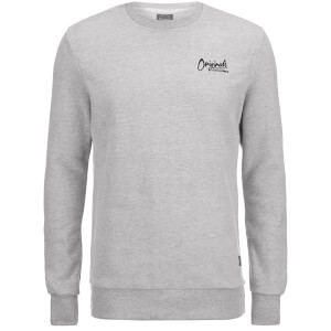 Jack & Jones Men's Originals Scala Crew Sweatshirt - Light Grey Marl