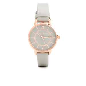 Olivia Burton Women's Wonderland Watch - Grey Dial & Rose Gold