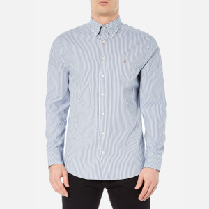 GANT Men's Indigo Long Sleeve Shirt - Dark Indigo