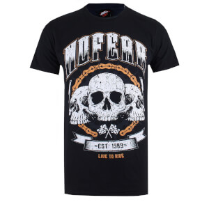 No Fear Men's Skull Chain T-Shirt - Black