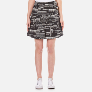 KENZO Women's Snake Flyer Jacquard Mini Skirt - Black