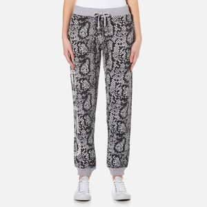 KENZO Women's Snake Light Brushed Molleton Trackpants - Light Grey