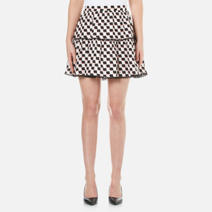 KENZO Women's Post It Jacquard Skirt - White