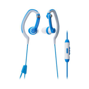 Audio-Technica Sports Hook Earphones with Mic - Blue