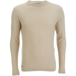 Kensington Eastside Men's Henry Cotton Crew Neck Jumper - Stone