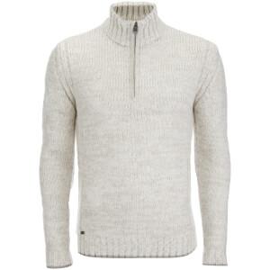 Kensington Eastside Men's Stepan Half Zip Jumper - Light Grey
