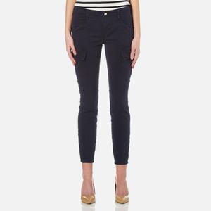J Brand Women's Houlihan Rise Cargo Trousers - Black Iris
