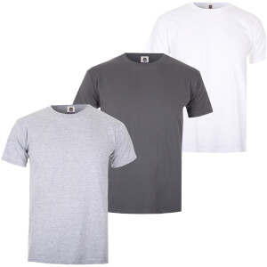 Varsity Team Players Men's T-Shirt 3 Pack - Charcoal/White/Grey