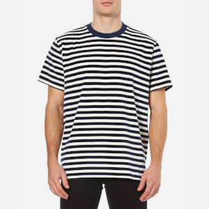 Our Legacy Men's Velour Box T-Shirt - Navy/White