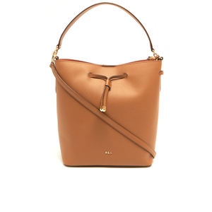 Lauren Ralph Lauren Women's Dryden Debby Drawstring Bag - Field Brown/Monarch Orange