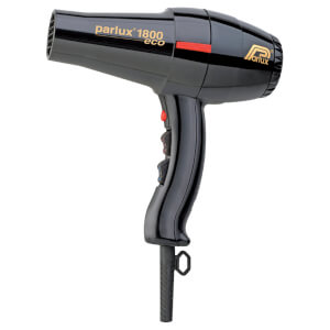 Parlux 1800 Eco Friendly Hair Dryer 1280W - Black